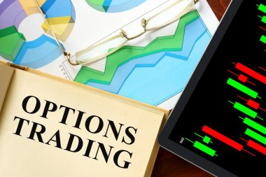 Words options trading written on a book.