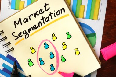 Notepad with market segmentation.