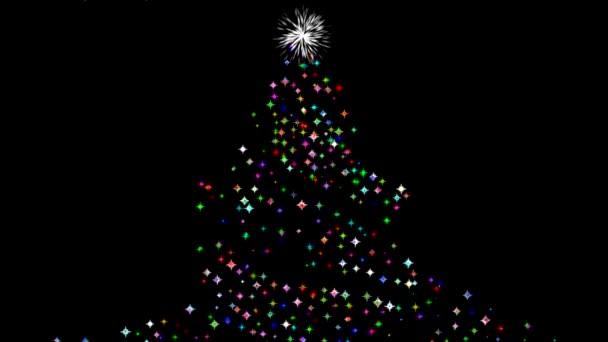 Ragyogó karácsonyfa mozgás grafika éjszakai háttér