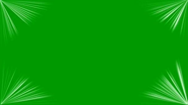 Lichtstrahlen Dekoration mit grünem Hintergrund