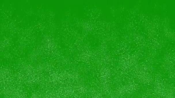 Fallende Staubpartikel Bewegungsgrafik mit grünem Hintergrund