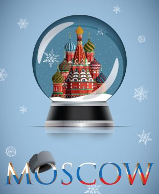 Moscow snow globe