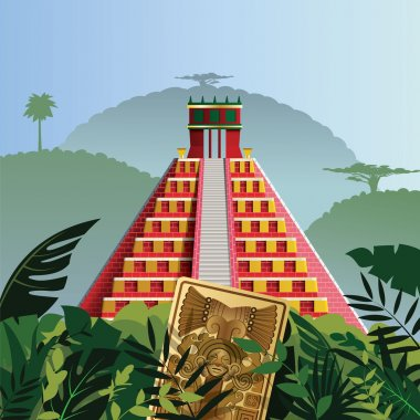 Acient Mayan pyramid