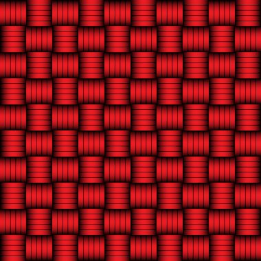 Red and black geometric pattern