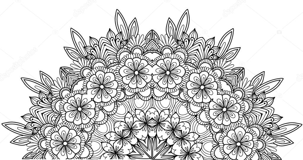 Imágenes: de flores para colorear | Página de libro con flores para ...