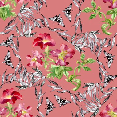 Petunia flowers background