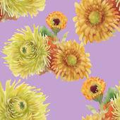 Akvarell virágok textúra illusztráció