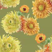 akvarell zökkenőmentes virágmintás