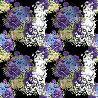 "Картина, постер, плакат, фотообои ""фея с луговыми цветами постеры цветы картины арт ван гог"", артикул 67450655"