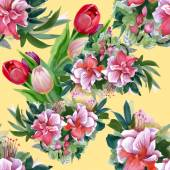 Letní zahradní květiny vzor