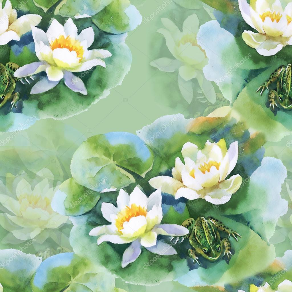 Dessin De Fleurs De Nenuphar Blanc Photographie Kostan Proff