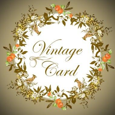 floral vintage card