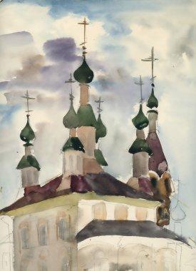Sketch of church illustration
