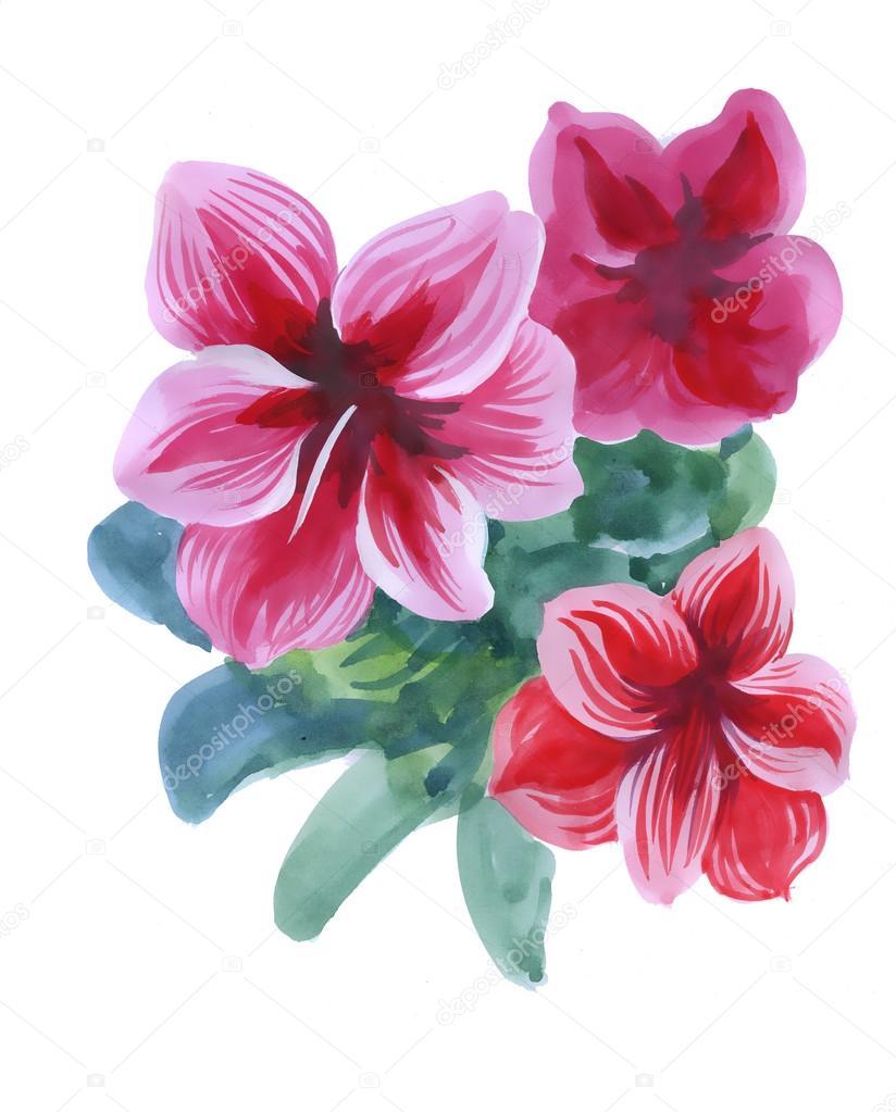 Painting beautiful flowers stock photo kostan proff 77417186 painting beautiful flowers stock photo izmirmasajfo