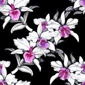 Bezešvé květinový vzor na