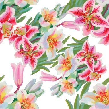 blooming flowers pattern