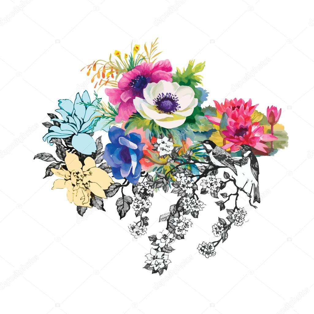 Blooming beautiful flowers