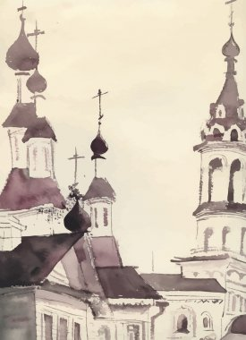 Sketch of an old church
