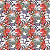 Virágos calla zökkenőmentes minta