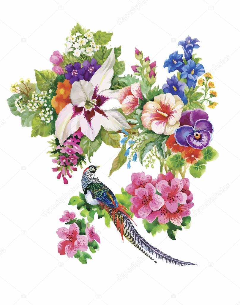Рисунок векторный цветы