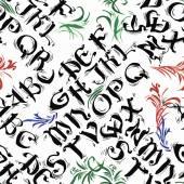 Fényképek ABC ABC akvarell kalligráfia betűk varrat nélküli mintát vektoros illusztráció