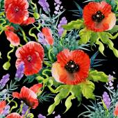 Fotografie garden blooming poppies flowers