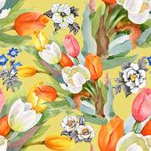 Zahradní tulipány kvetoucí květiny