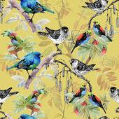 előrajzolt madarak a gallyak
