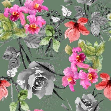 Blooming beautiful magnolia flowers