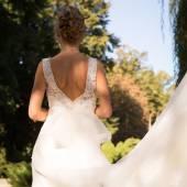 portrét krásné nevěsty.