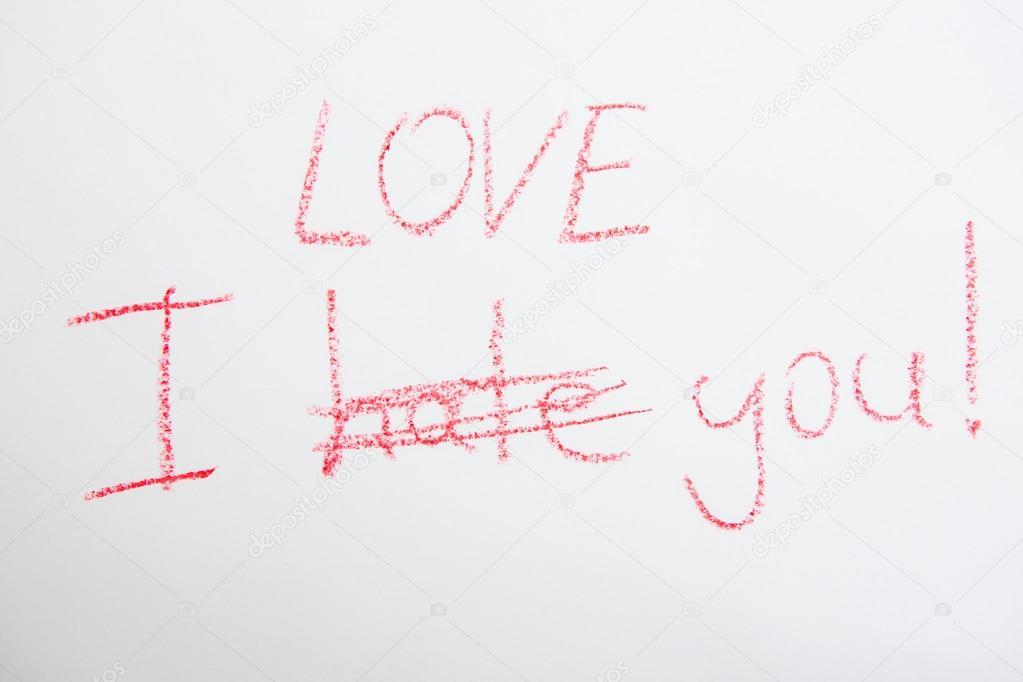 Handwritten Simple Words. I Love You. Creative Card U2014 Stock Photo