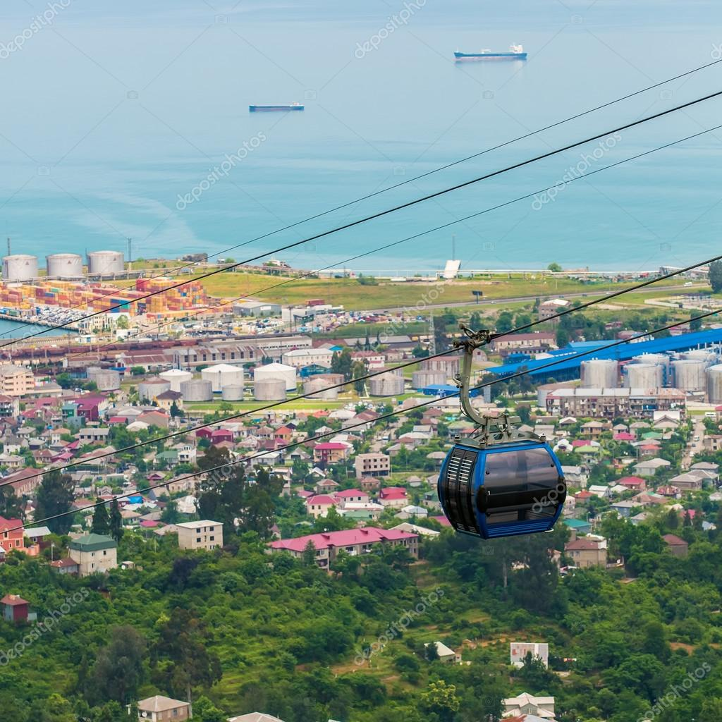 BATUMI, GEORGIA - JULY 20: view from cabin cableway