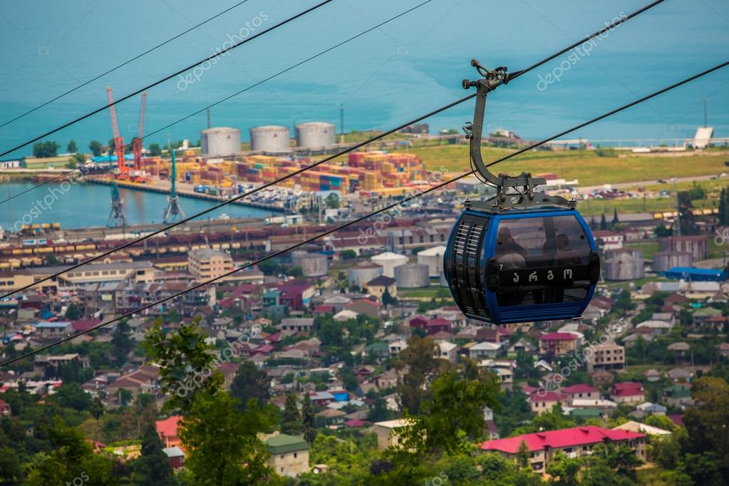 BATUMI, GEORGIA - JULY 20: view from the cabin cableway