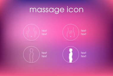 woman massage icon template pain
