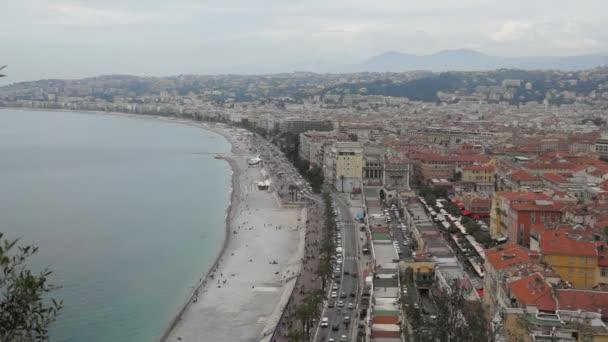 Timelapse pohled město Nice ve Francii. Luxusní resort francouzské riviéry