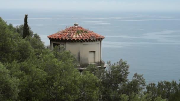 Torre e vista sul Mar Mediterraneo a Nizza, Francia
