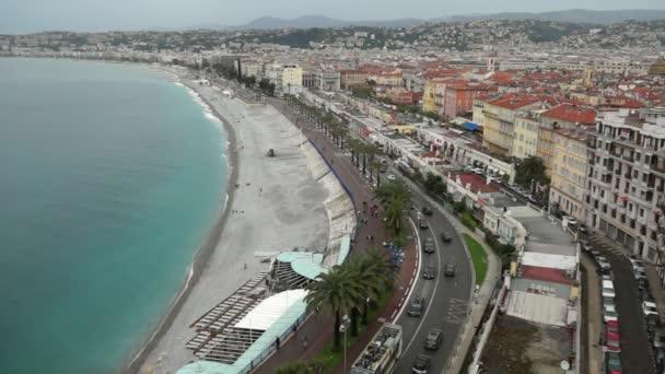 Vista città di Nizza in Francia. Resort di lusso della Costa Azzurra.