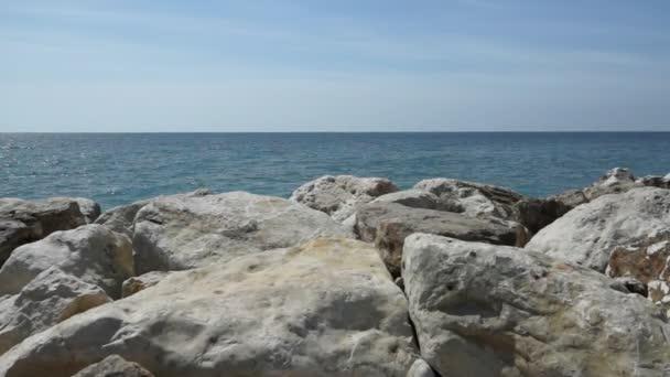 Vista del Mar Mediterraneo a Nizza, Francia