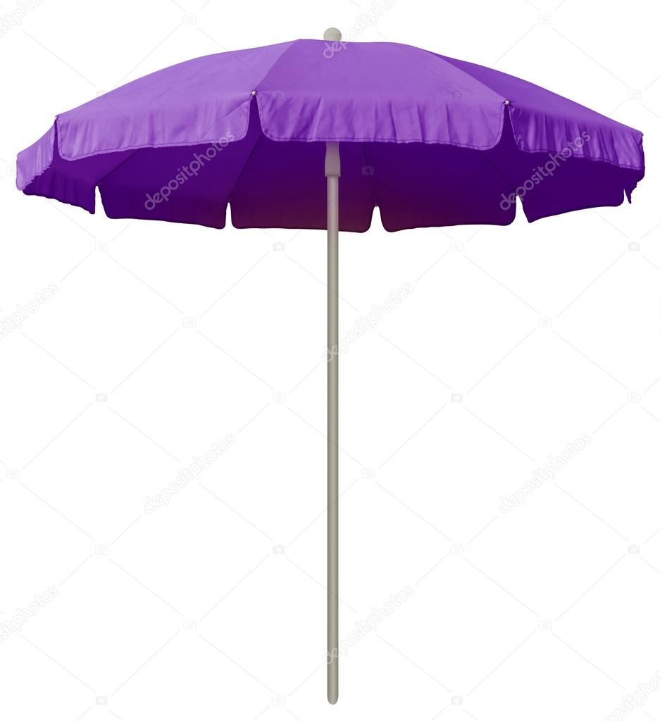 Beach umbrella   violet — Stock Photo © venakr #90269630