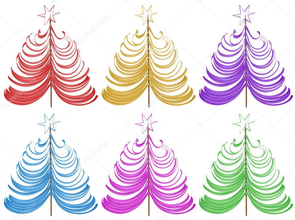 Árbol de Navidad - colores — Foto de stock © venakr #94276778