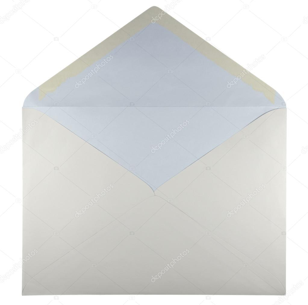 Blank open envelope - white — Stock Photo © venakr #99206030