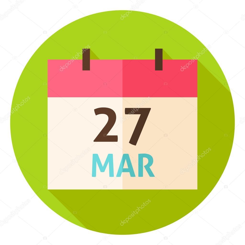 Calendar Date.March 27 Easter Calendar Date Circle Icon Stock Vector C Anna Leni