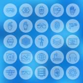 Fényképek Line Circle Web Virtual Reality Icons Set