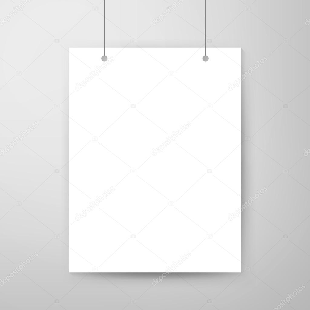 Plantilla cartel vacío — Archivo Imágenes Vectoriales © Anna_leni ...