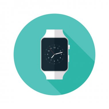 Light Smart Watch Flat Icon