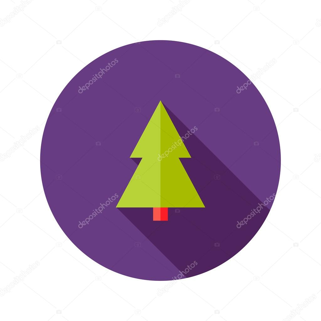 Christmas Tree Flat Icon