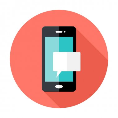 Smartphone Notification Flat Circle Icon
