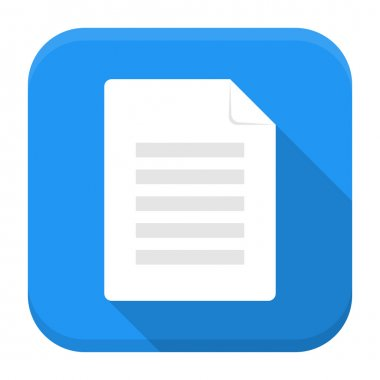 Document app icon with long shadow