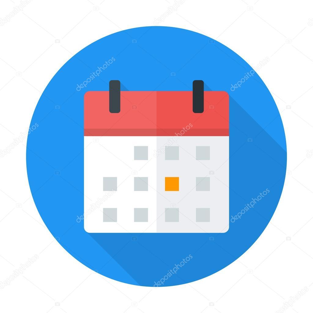 Calendar Flat Illustration : Calendar flat circle icon — stock vector anna leni