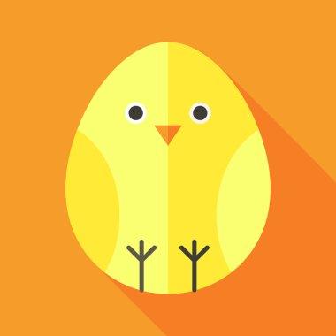 Yellow chick egg shaped